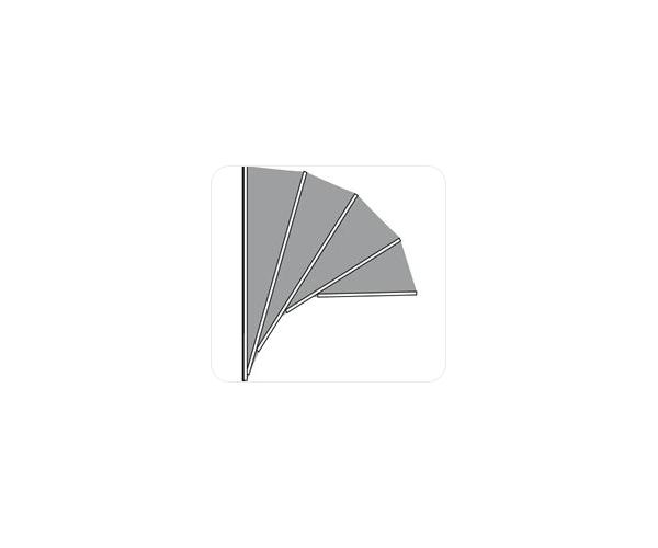 Aluminium markies . Standaard Kap Meranti . PET MODEL