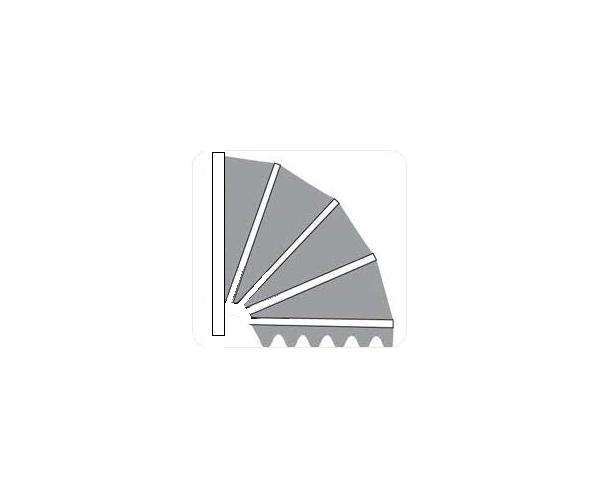 Aluminium markies . De Luxe Kap Meranti